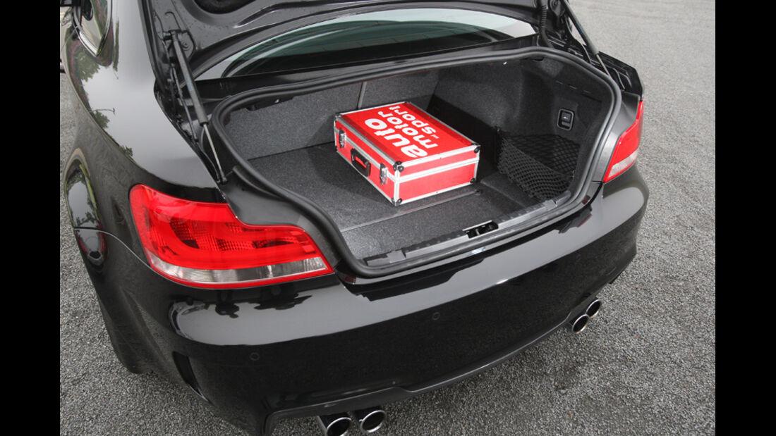 BMW Einser M Coupe, Kofferraum, Tasche
