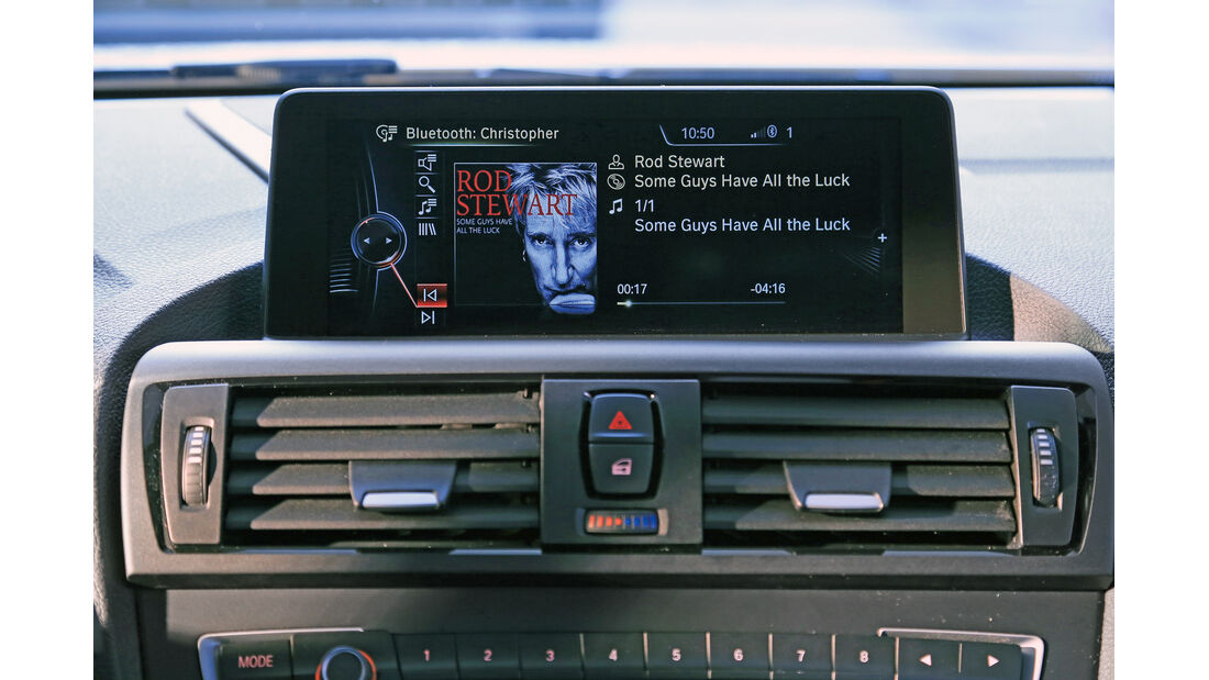 BMW Einser, Navi, Monitor