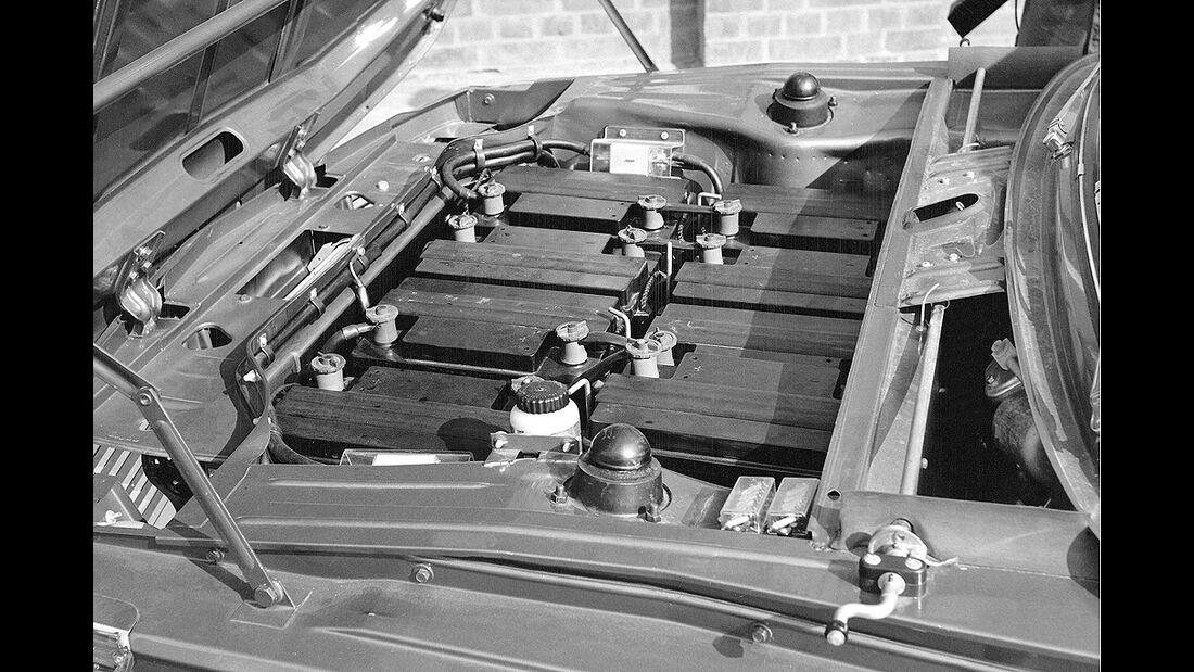 BMW Elektroautos, Ökoautos, BMW 1602 Elektro E7, Batterie