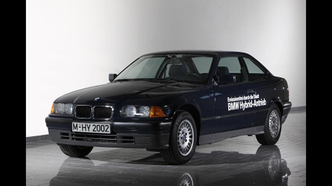 BMW Elektroautos, Ökoautos, BMW 3er E36, Hybrid
