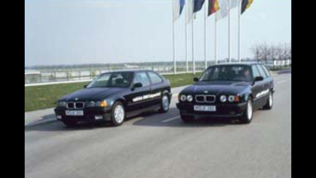 BMW Elektroautos, Ökoautos, BMW 518g touring, BMW 316 g Compact, Erdgas
