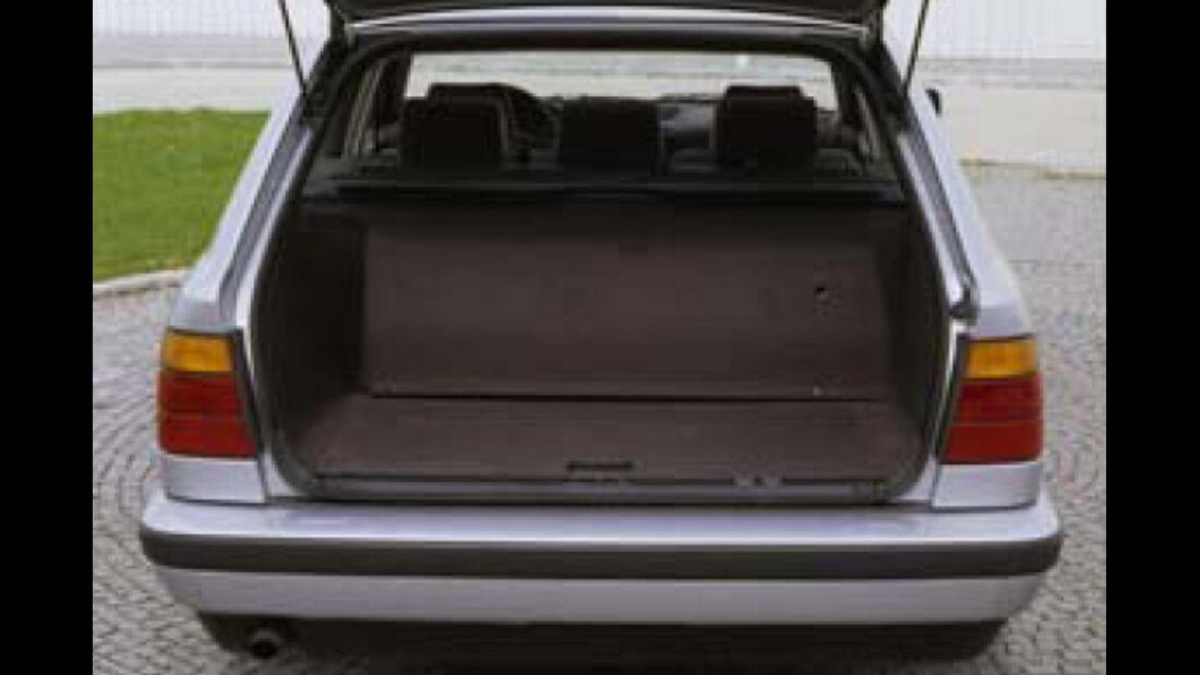 BMW Elektroautos, Ökoautos, BMW 518g touring, Erdgas, Kofferraum