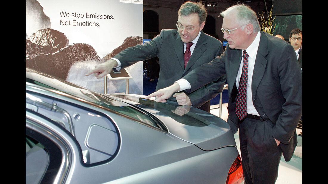 BMW Elektroautos, Ökoautos, BMW Hydrogen7, Wasserstoff, Verheugen, Reithofer