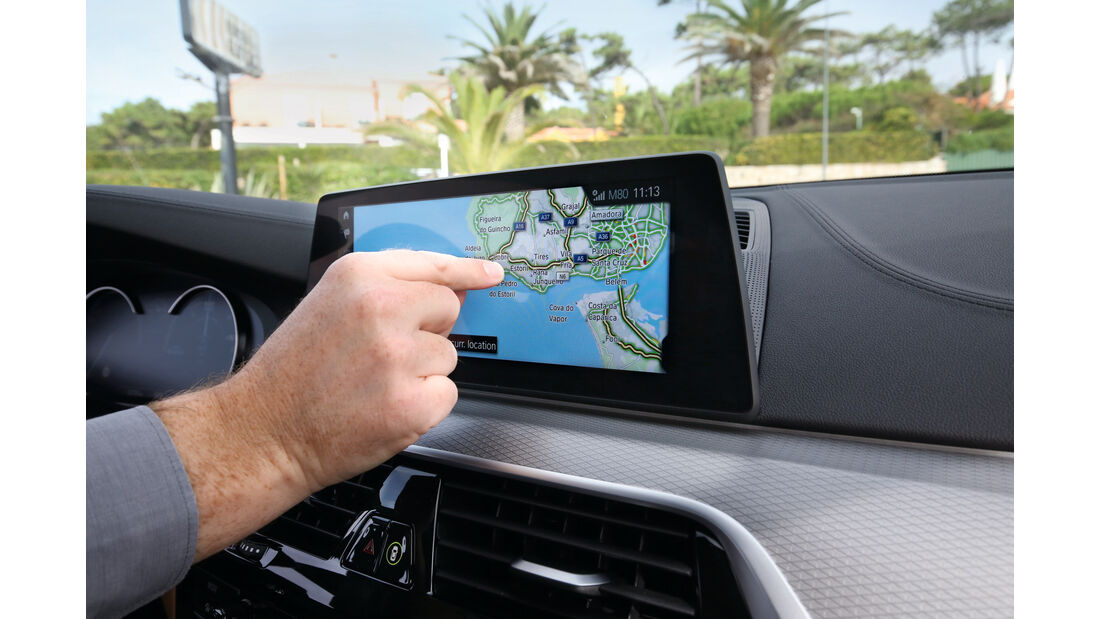 BMW Fünfer, Bildschirm
