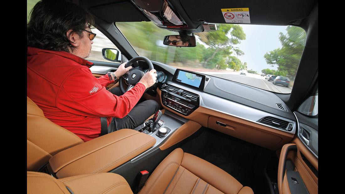 BMW Fünfer, Cockpit, Fahrersicht