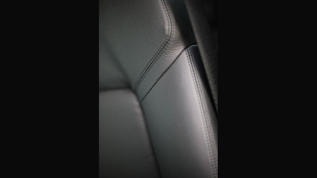 BMW Fünfer GT, Naht, Leder, Detail