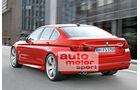 BMW Fünfer, Heckansicht