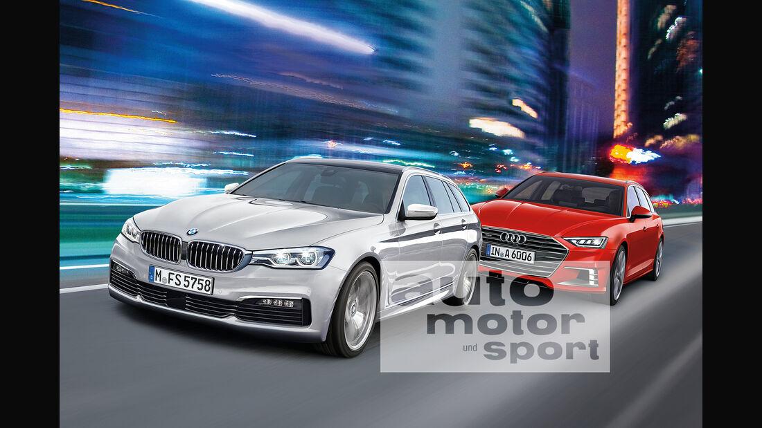 BMW Fünfer Touring, Audi A6 Avant