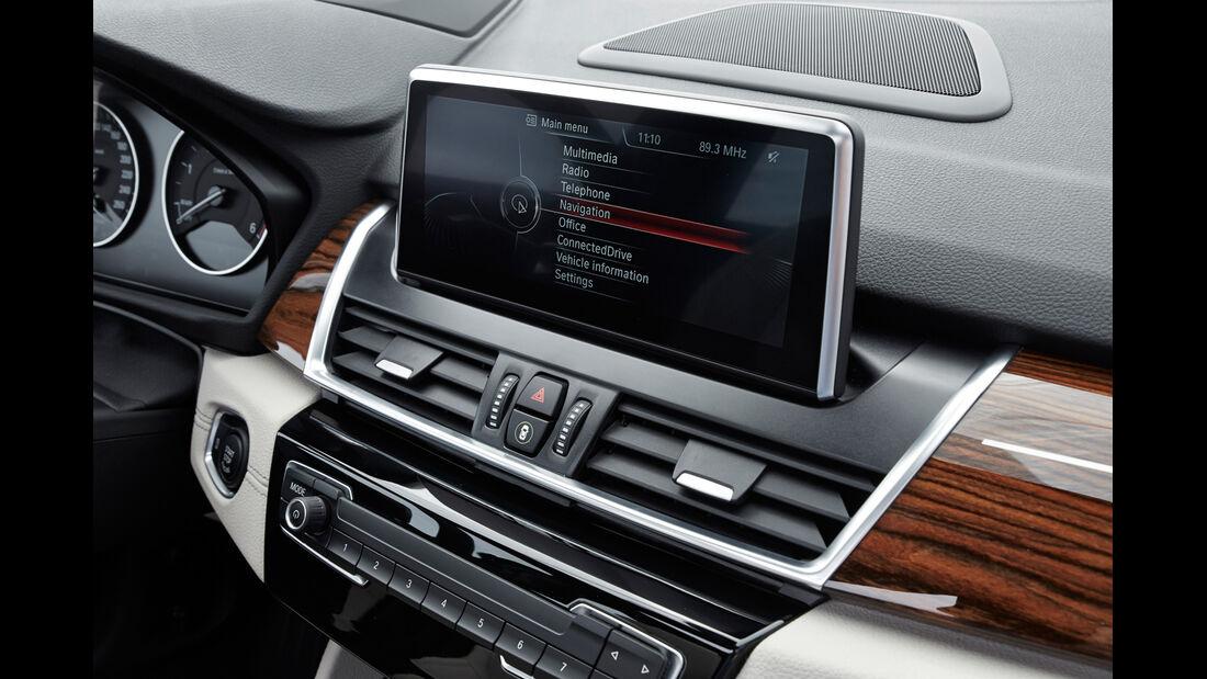 BMW Gran Tourer 220d xDrive, Bildschirm, Infotainment