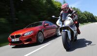BMW HP4, BMW M6, Frontansicht