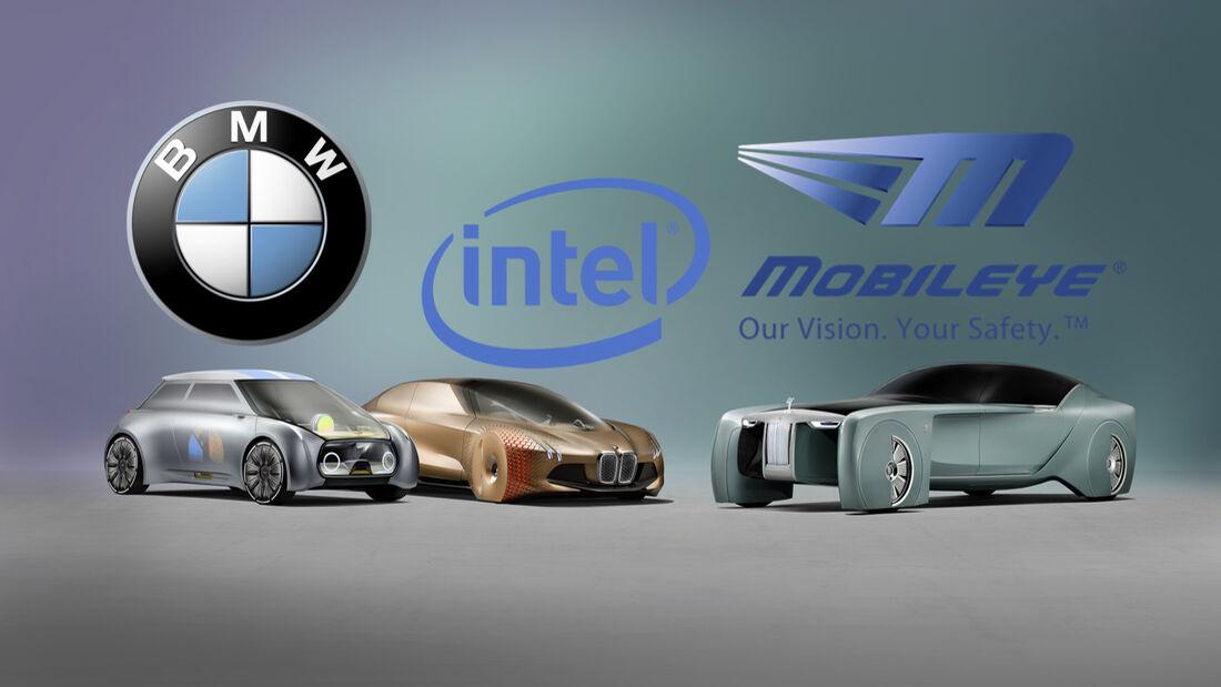 BMW Kooperation Allianz mit Intel und MobilEye