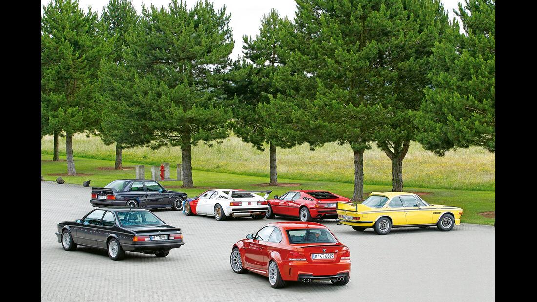 BMW M, alle Fahrzeuge, Heckansicht