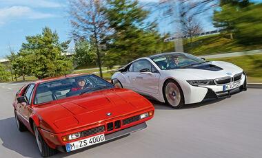 BMW M1, BMW i8, Frontansicht