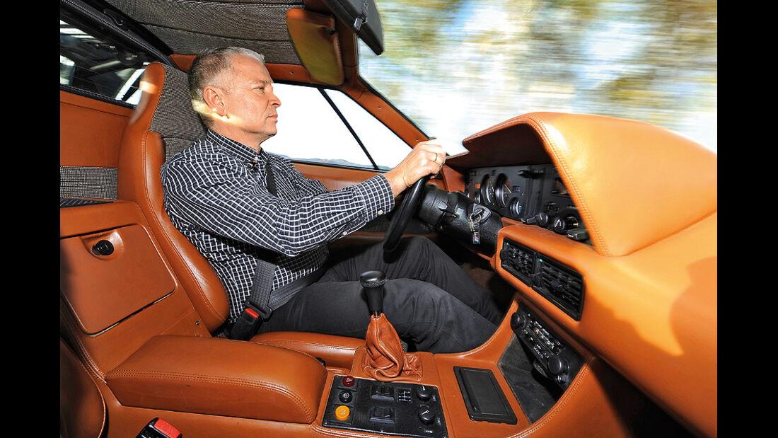 BMW M1, Cockpit mit Fahrer, Detail
