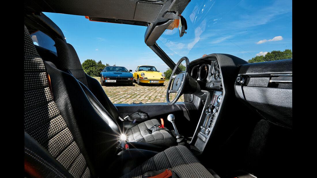 BMW M1, Mercedes C111, Porsche Carrera RS 2.7