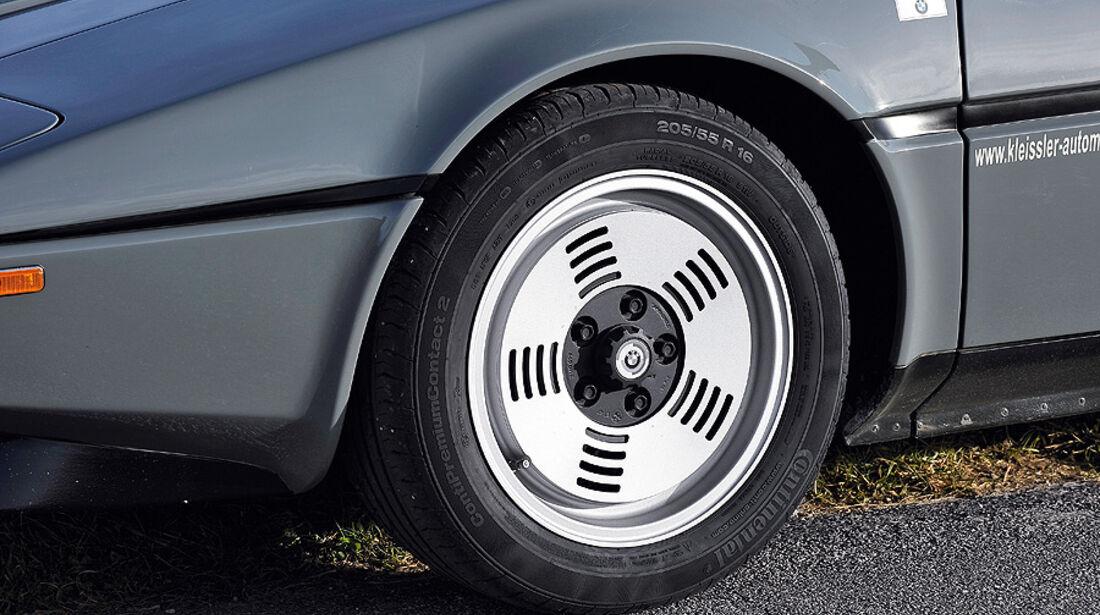 BMW M1, Rad, Reifen, Detail