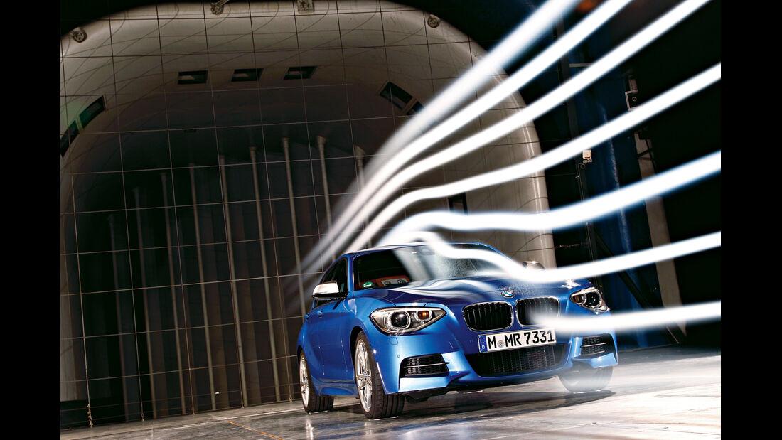 BMW M135i, Frontansicht, Windkanal