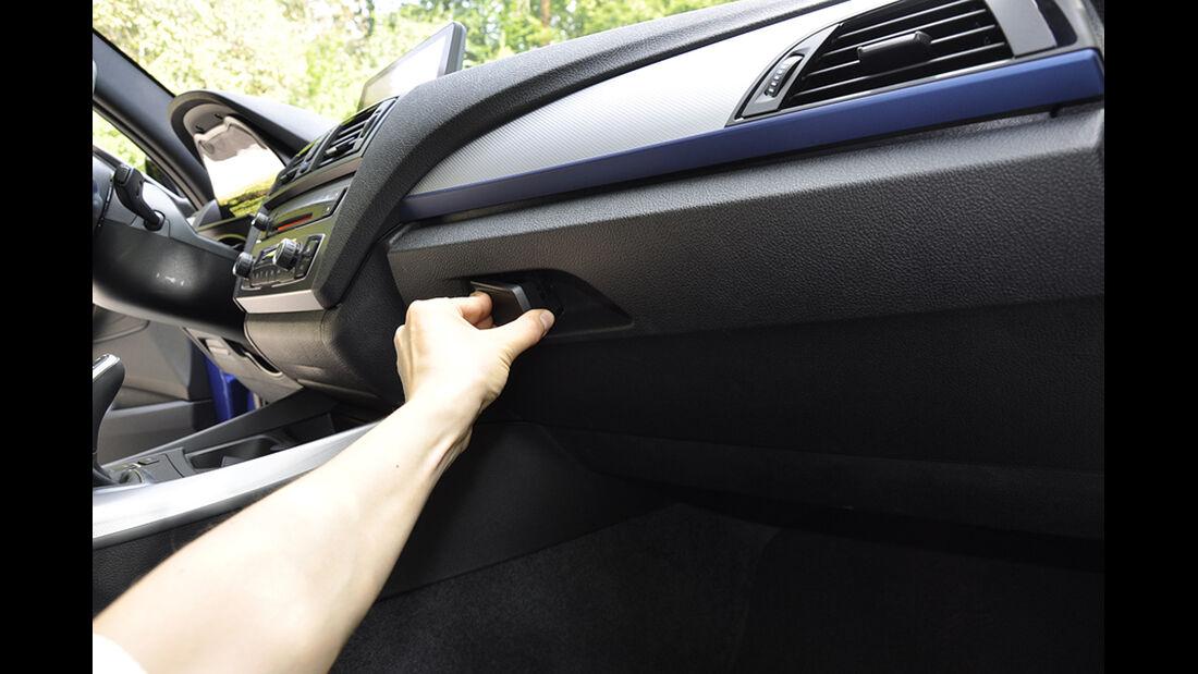 BMW M135i, Innenraum-Check, Ablagen