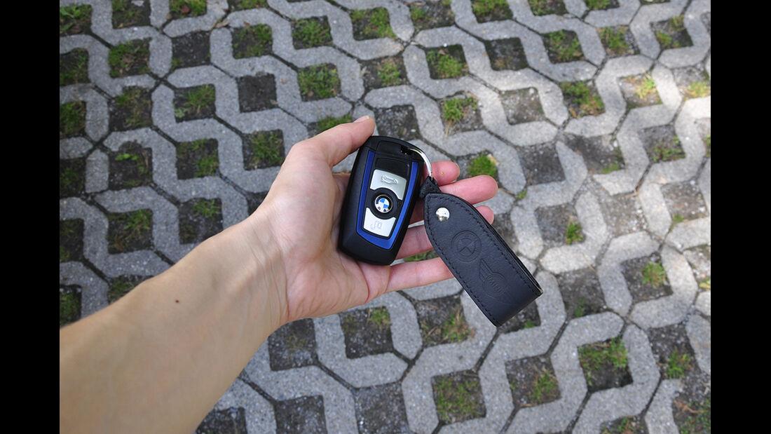 BMW M135i, Innenraum-Check, Zündschlüssel