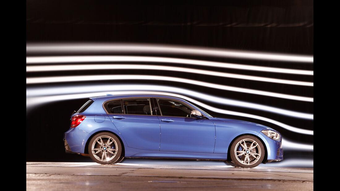 BMW M135i, Seitenansicht, Windkanal