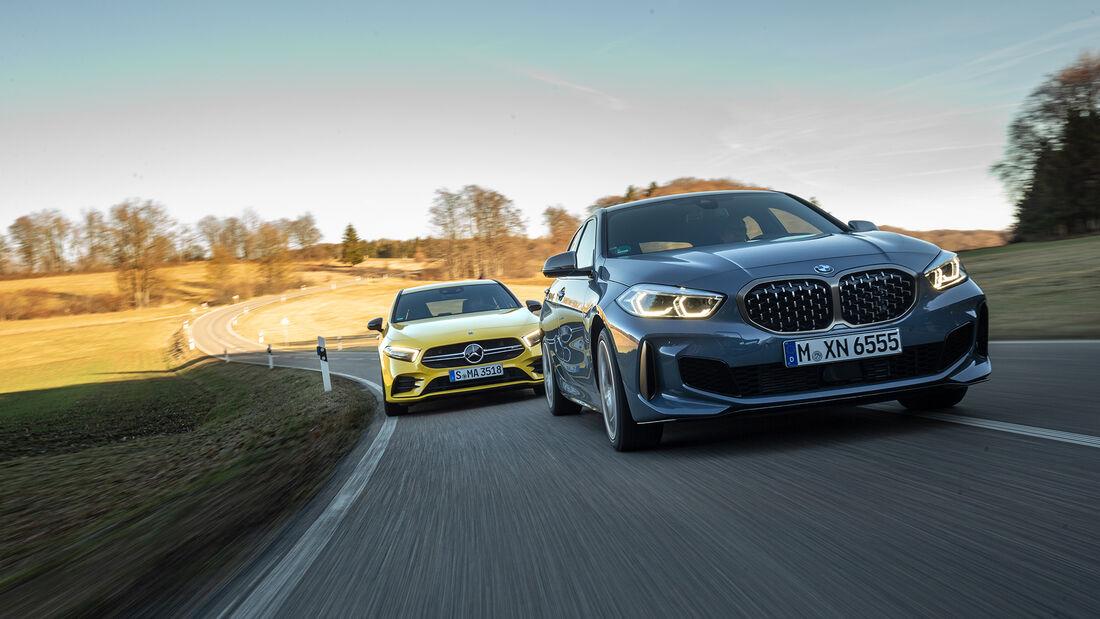 BMW M135i xDrive, Mercedes-AMG A 35 4Matic, Exterieur