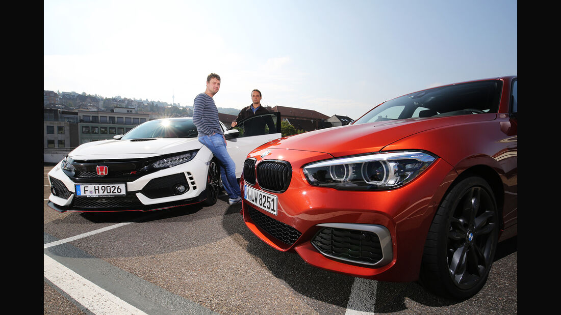 BMW M140i, Honda Civic Type R, Exterieur