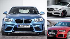 BMW M2 Aufmacher Vergleich
