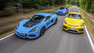 BMW M2 CS, Lotus Exige Sport 410, Porsche 718 Cayman GT4, Exterieur
