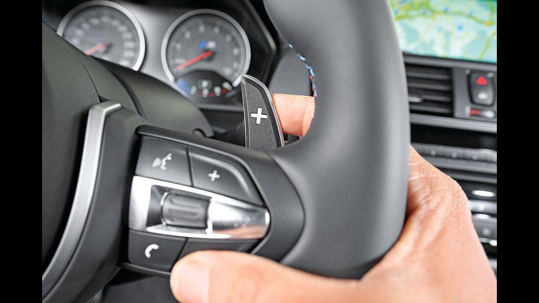BMW M2 Coupé, Lenkradschalter