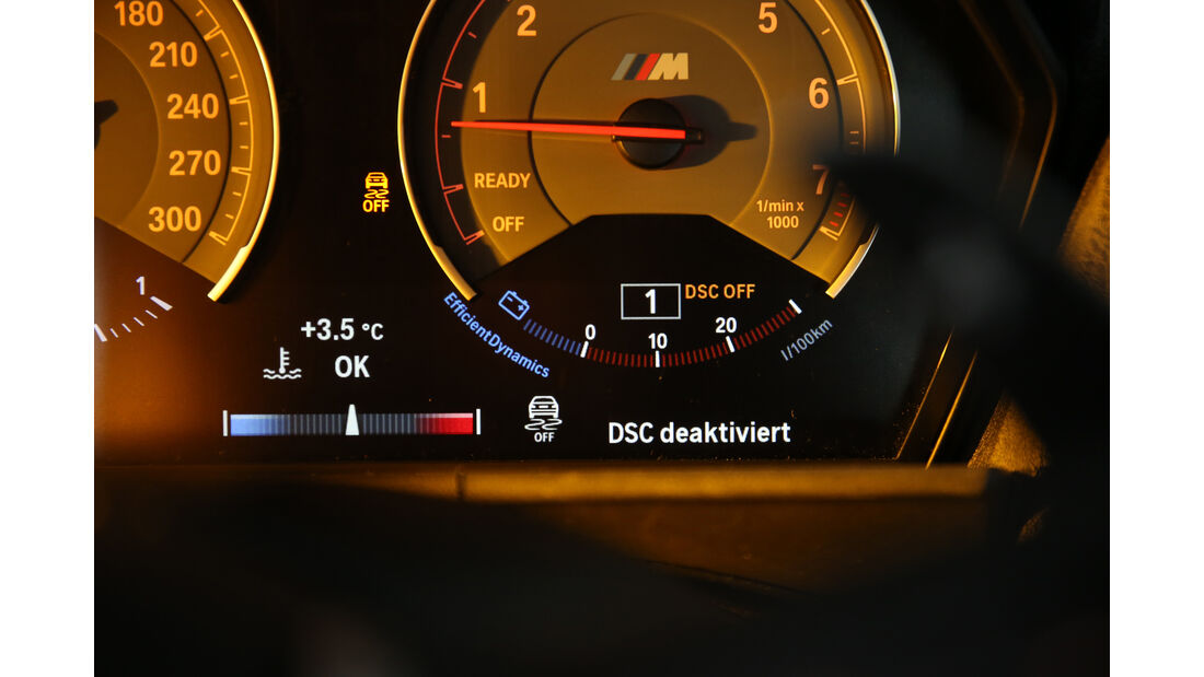 BMW M2 Coupé, Rundinstrumente