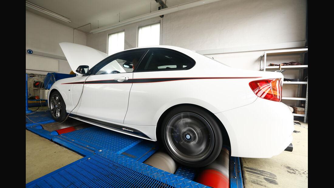 BMW M235i, Prüfstand