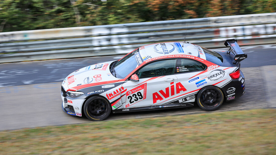 BMW M240i - Team Avia Sorg Rennsport - Startnummer #239 - Klasse: Cup 5 - 24h-Rennen - Nürburgring - Nordschleife - 24. bis 27. September 2020