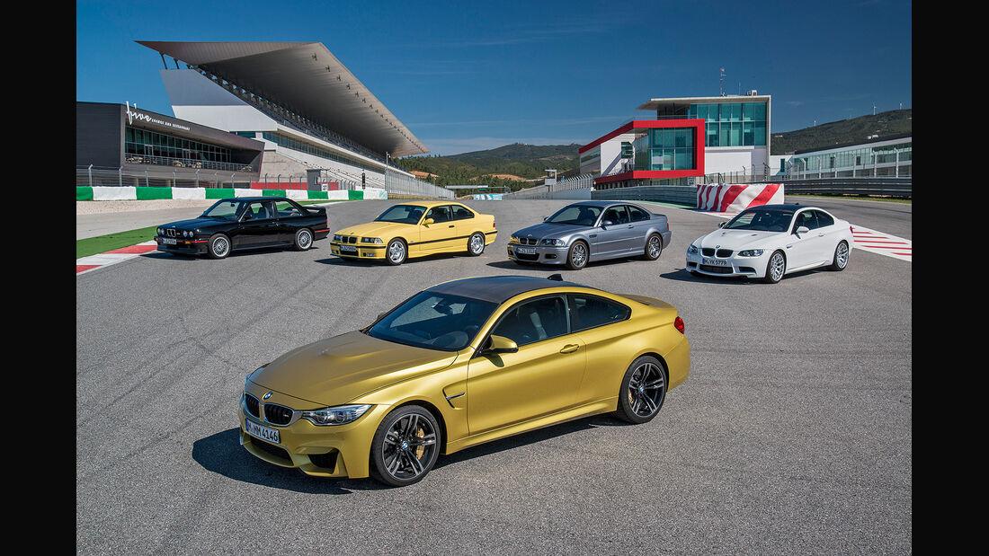 BMW M3, BMW M4, Generationen