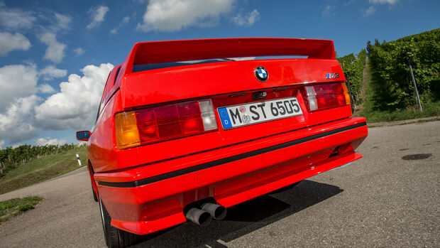 BMW M3, Baureihe E30, Heck, Auspuff, Endrohre