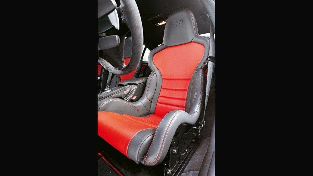 BMW M3 CRT, Fahrersitz