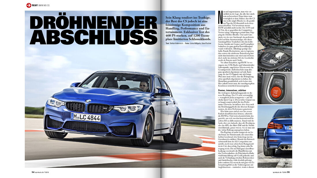 BMW M3 CS - Screenshot - sport auto 7/2018
