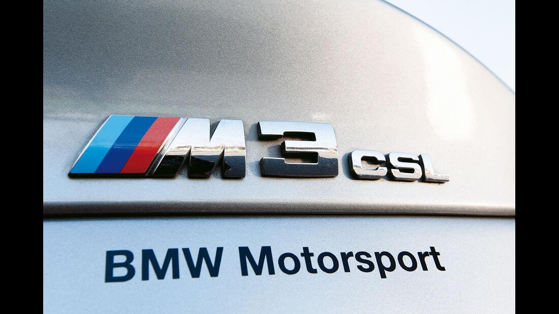BMW M3 CSL, Emblem, Typenbezeichnung