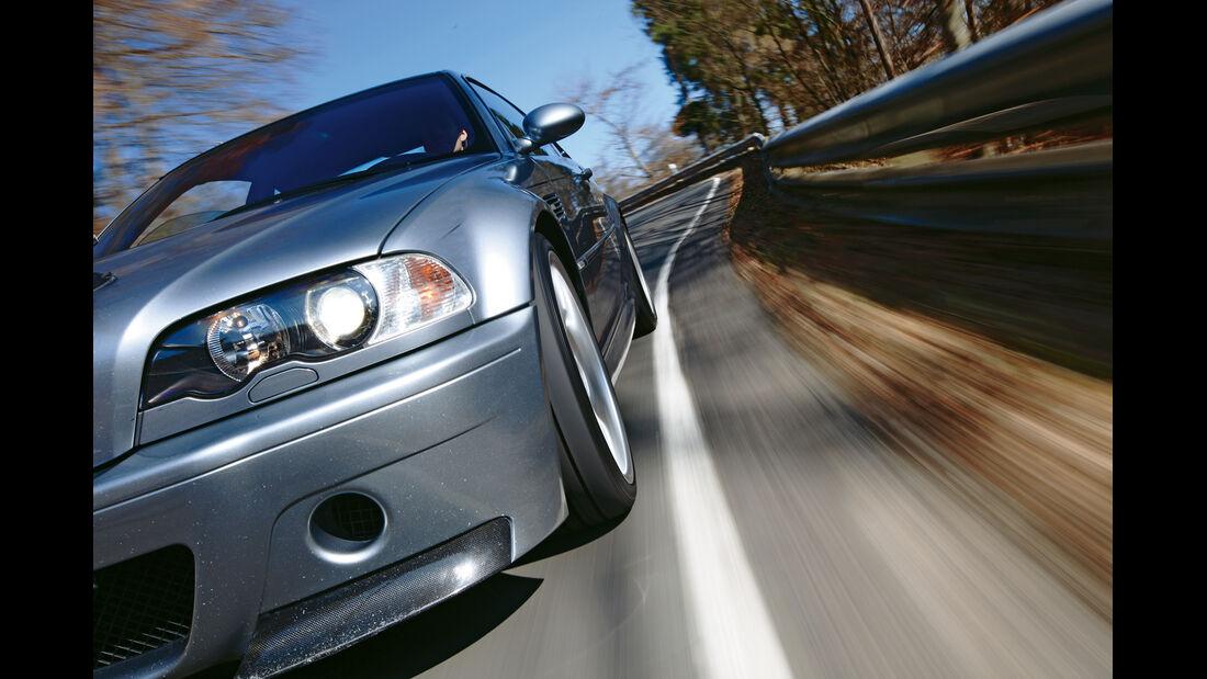 BMW M3 CSL, Frontansicht, Seitenlinie