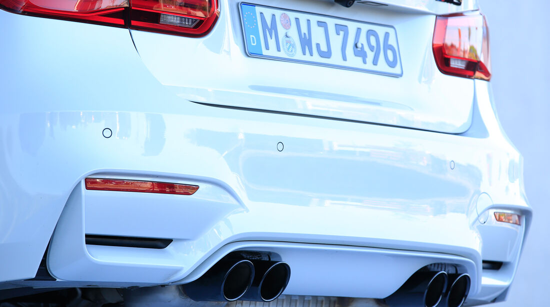BMW M3 Competition, Endrohre