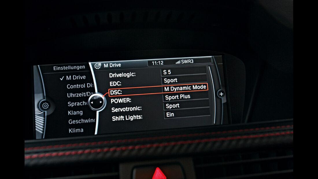 BMW M3 Coupé, Infotainment-Display
