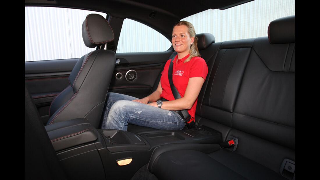 BMW M3 Coupe Competition, Rücksitz