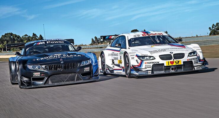 BMW M3 DTM, Z4 GT3, Frontansicht