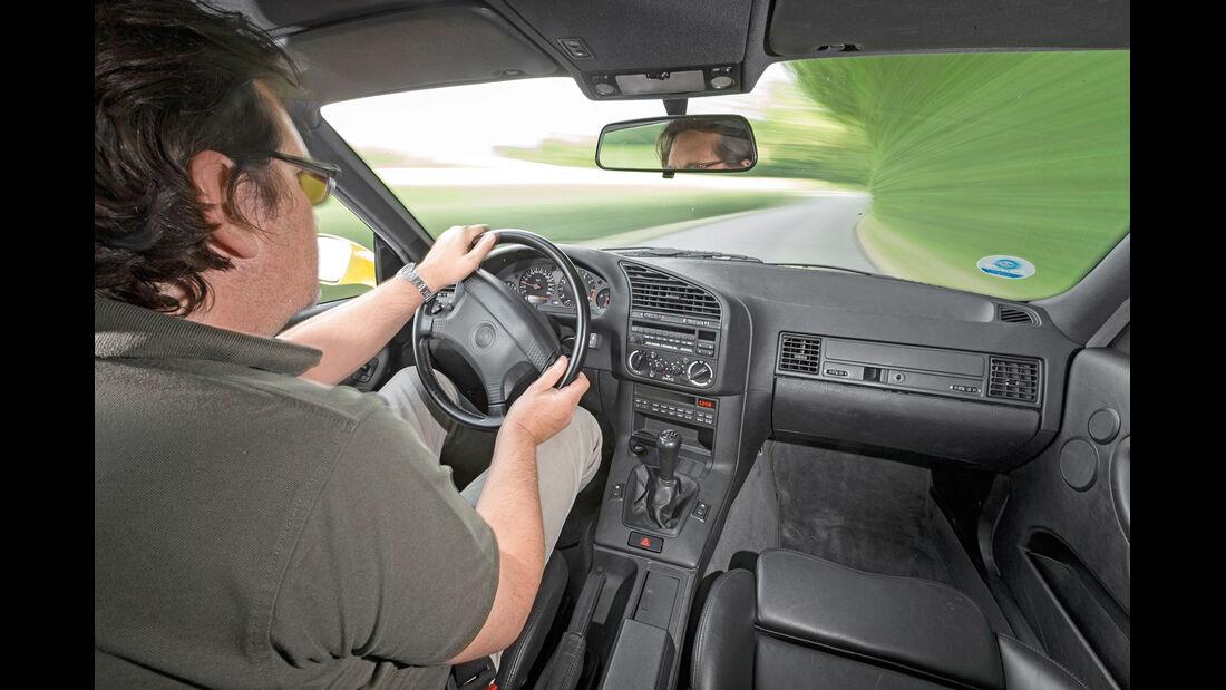 BMW M3 (E36), Cockpit, Fahrersicht