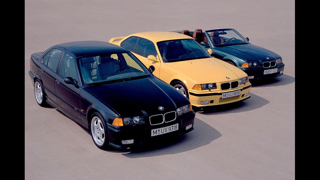 BMW M3, E36, Coupé, Cabrio, Limousine