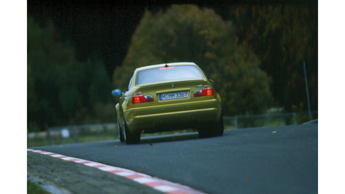 BMW M3 E46, Heckansicht