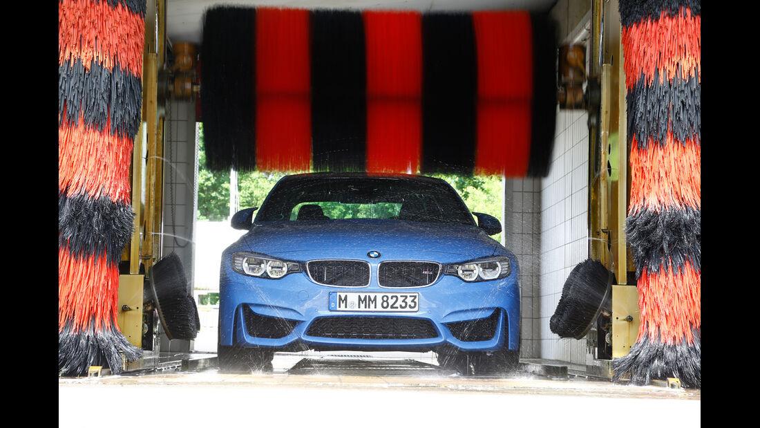 BMW M3, Frontansicht, Waschstraße