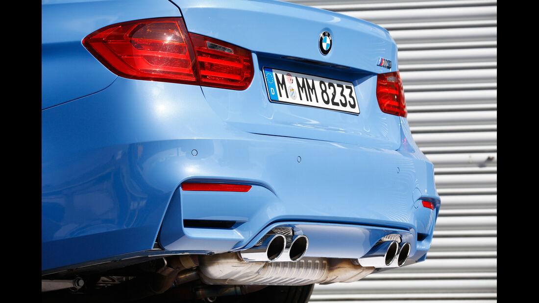 BMW M3, Heck, Auspuff, Endrohre