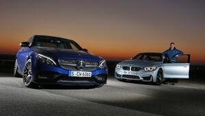 BMW M3, Mercedes AMG C63, Frontansicht