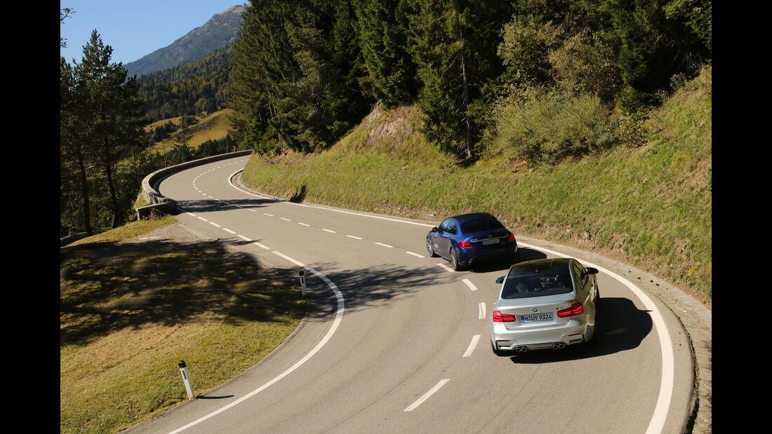 BMW M3, Mercedes AMG C63, Heckansicht