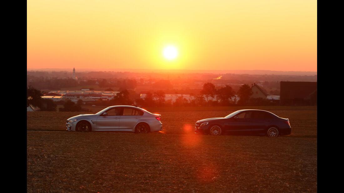 BMW M3, Mercedes AMG C63, Seitenansicht
